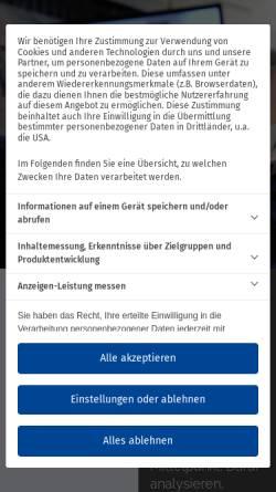 Vorschau der mobilen Webseite www.tvn.de, TVN Group Holding GmbH & Co. KG