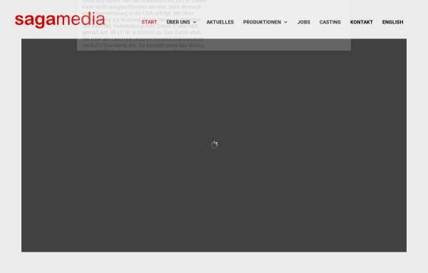 Vorschau von sagamedia.de, Sagamedia Film- und Fernsehproduktion GmbH