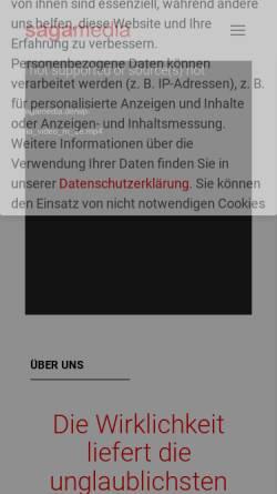 Vorschau der mobilen Webseite sagamedia.de, Sagamedia Film- und Fernsehproduktion GmbH