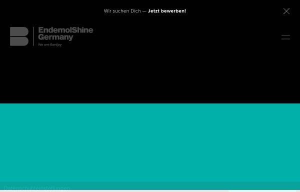 Vorschau von www.endemolshine.de, Endemol Shine Group Germany GmbH