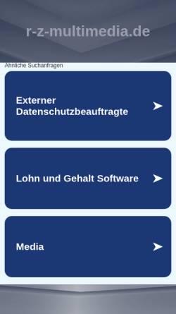 Vorschau der mobilen Webseite www.r-z-multimedia.de, r-z-multimedia