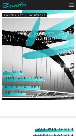 Vorschau der mobilen Webseite www.berola.de, Berola Film GmbH