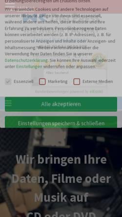 Vorschau der mobilen Webseite www.mkdiscpress.de, MK DiscPress GmbH