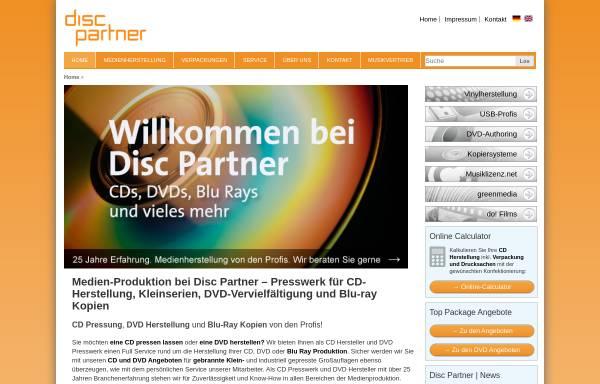 Vorschau von www.discpartner.de, AAA Media Solutions GmbH & Co. KG