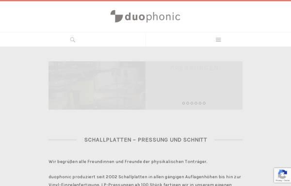 Vorschau von www.duophonic.de, Duophonic GbR