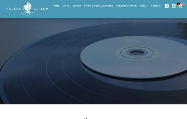 Vorschau von www.pallas-group.de, Schallplattenfabrik Pallas GmbH
