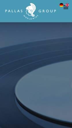 Vorschau der mobilen Webseite www.pallas-group.de, Schallplattenfabrik Pallas GmbH