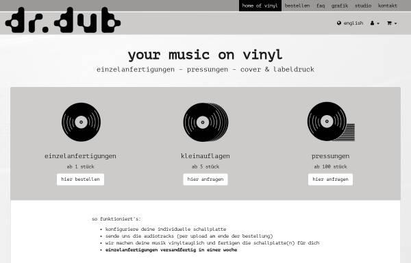 Vorschau von www.drdub.com, Dr. dub - vinyl recording service Wieshofer & Soder OG