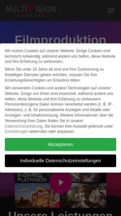 Vorschau der mobilen Webseite www.multivision-hamburg.de, Multivision Film- und Fernsehproduktion GmbH