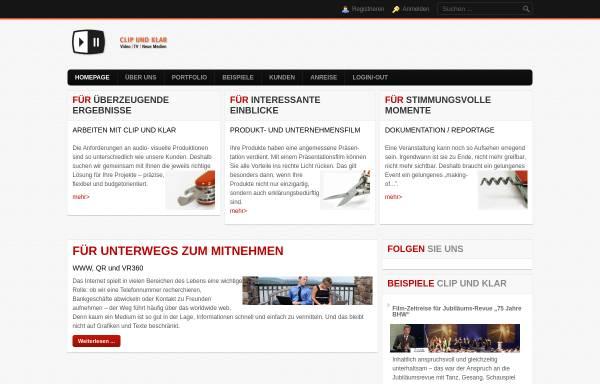 Vorschau von www.clipundklar.net, Clip und Klar Video, TV, neueMedien - Inh. Matthias Karg