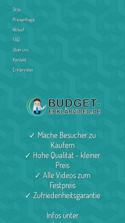 Vorschau der mobilen Webseite www.budget-erklaerfilme.de, YYM Media Solutions UG