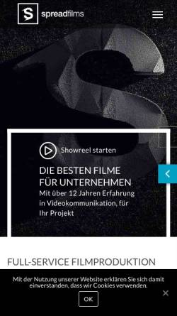 Vorschau der mobilen Webseite www.spreadfilms.de, Spreadfilms GbR