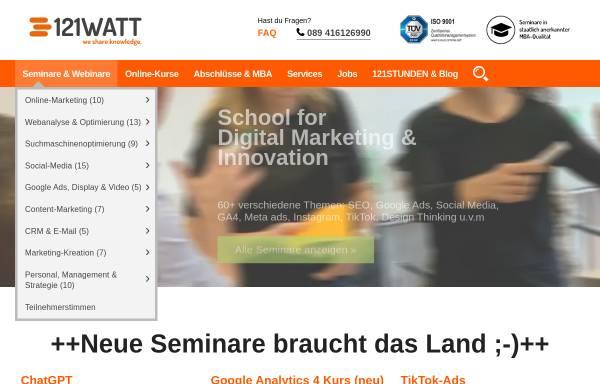 Vorschau von www.121watt.de, 121watt.de, Alexander Holl