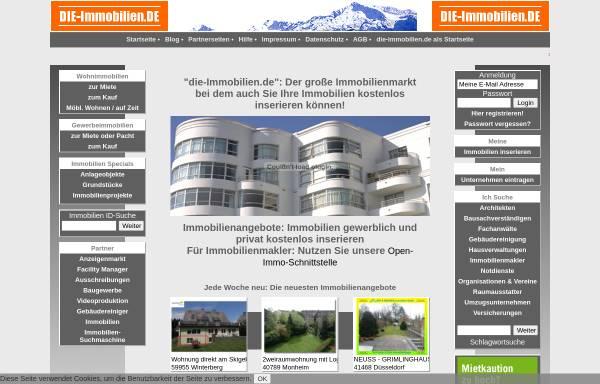 Vorschau von die-immobilien.de, Schwarzmeier GmbH Neue Medien