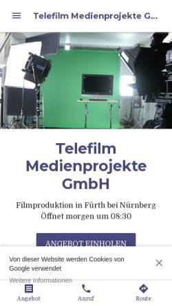 Vorschau der mobilen Webseite www.telefilm.de, Telefilm Medienprojekte GmbH