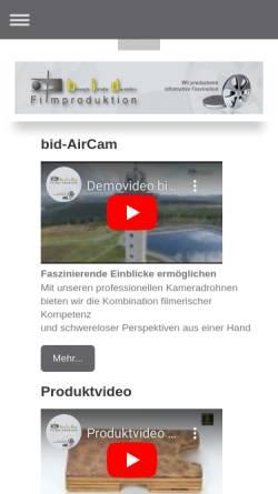 Vorschau der mobilen Webseite www.bid-filmproduktion.de, bid Filmproduktion Martina Kaaf