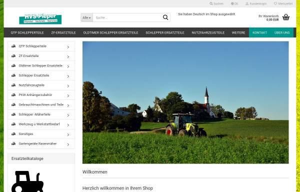 Vorschau von www.schlepperteile.eu, Schlepperteile.eu, HVS Pieper UG