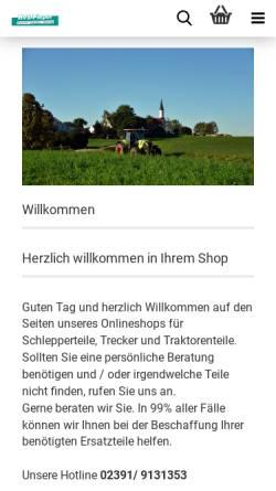 Vorschau der mobilen Webseite www.schlepperteile.eu, Schlepperteile.eu, HVS Pieper UG
