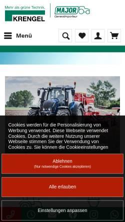 Vorschau der mobilen Webseite www.krengel.de, Krengel Landtechnik GmbH