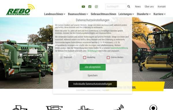 Vorschau von www.rebo-landmaschinen.de, Rebo Landmaschinen GmbH