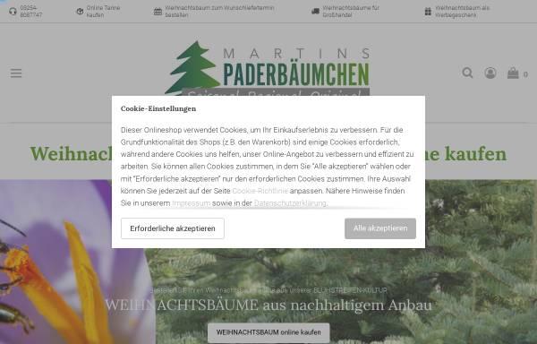 Vorschau von www.paderbaeumchen-shop.de, Martins Paderbäumchen