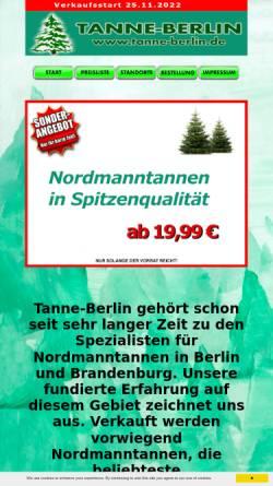 Vorschau der mobilen Webseite www.tanne-berlin.de, Tanne-berlin.de, Hans-Jürgen Kadereit