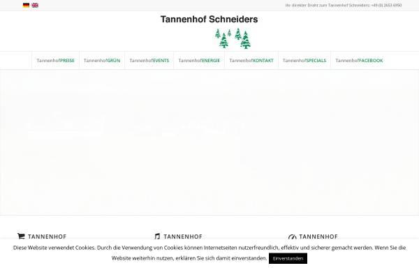 Vorschau von www.tannenhof-schneiders.de, Tannenhof Schneiders GmbH & Co. KG