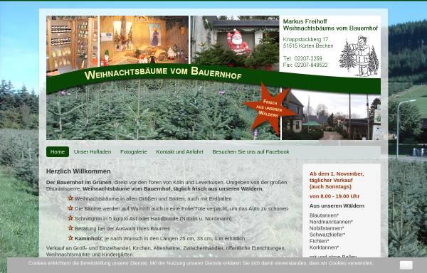 Vorschau von www.weihnachtsbäume-vom-bauernhof.de, Weihnachtsbäume vom Bauernhof, Markus Freihoff