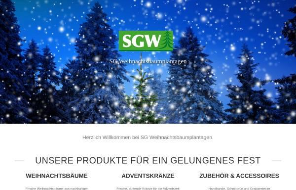 Vorschau von weihnachtsbaum-welt.de, SG Weihnachtsbaumplantagen