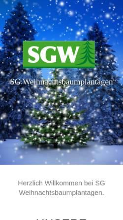 Vorschau der mobilen Webseite weihnachtsbaum-welt.de, SG Weihnachtsbaumplantagen