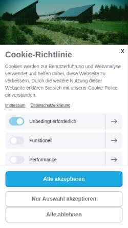 Vorschau der mobilen Webseite www.eslarner-tannenhof.de, Tannenhof Eslarn - Thomas Bösl