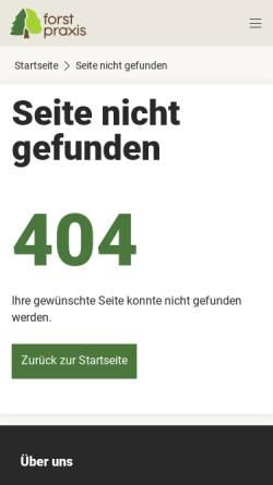 Vorschau der mobilen Webseite www.forstpraxis.de, Deutscher Waldbesitzer