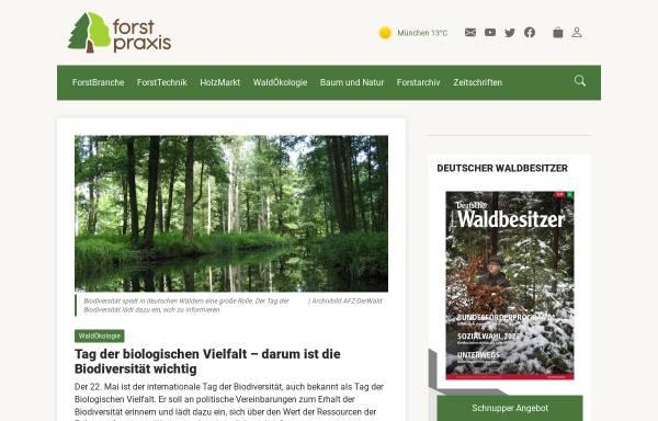 Vorschau von www.forstpraxis.de, Forstpraxis.de