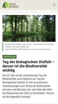 Vorschau der mobilen Webseite www.forstpraxis.de, Forstpraxis.de
