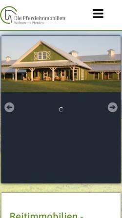 Vorschau der mobilen Webseite www.reiterhof-anwesen.de, Reiterhof-Anwesen, Gerd Hobrecht