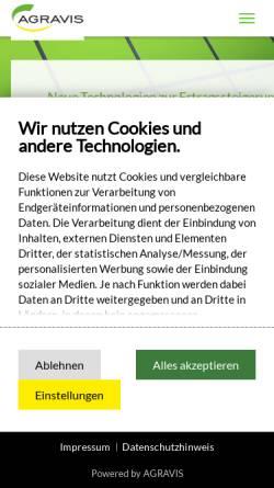 Vorschau der mobilen Webseite www.netfarming.de, Agravis NetFarming GmbH