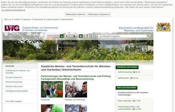 Vorschau von www.fachschule-veitshoechheim.bayern.de, Meister- und Technikerschule Veitshöchheim