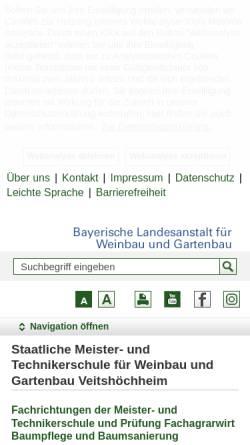 Vorschau der mobilen Webseite www.fachschule-veitshoechheim.bayern.de, Meister- und Technikerschule Veitshöchheim