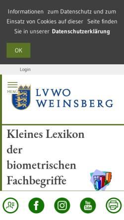 Vorschau der mobilen Webseite www.lvwo-bw.de, Biometrische Fachbegriffe für Leser von Versuchsberichten