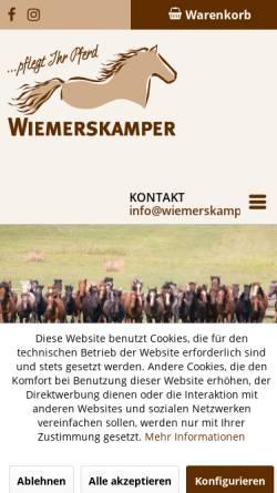 Vorschau der mobilen Webseite www.sommerekzem.net, Wiemerskamper Gesellschaft für Pferdepflegeprodukte mbH