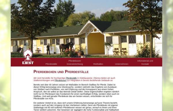 Vorschau von www.kirst-stallbau.de, Kirst Pferdestall- & Reitanlagenbau GmbH