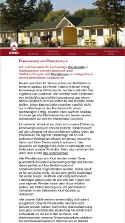 Vorschau der mobilen Webseite www.kirst-stallbau.de, Kirst Pferdestall- & Reitanlagenbau GmbH