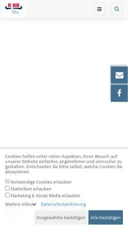 Vorschau der mobilen Webseite www.rinderzucht-bb.de, Rinderproduktion Berlin-Brandenburg GmbH