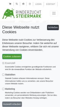 Vorschau der mobilen Webseite rinderzucht-stmk.at, Rinderzucht Steiermark