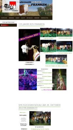 Vorschau der mobilen Webseite www.rzv-franken.de, Rinderzuchtverband Franken e.V.