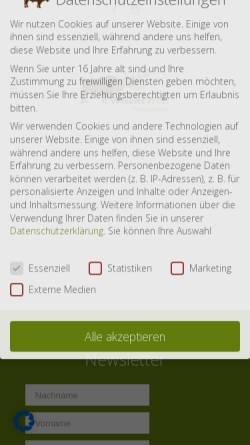 Vorschau der mobilen Webseite www.wisent-welt.de, Wisent-Welt-Wittgenstein e.V.