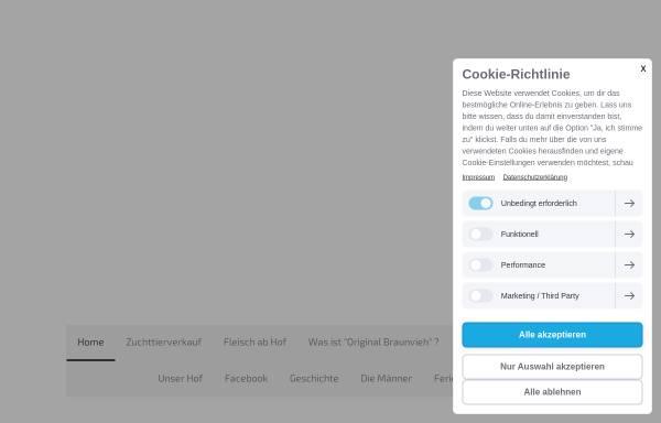 Vorschau von www.original-braunvieh.org, Schlichting - Ritter GbR