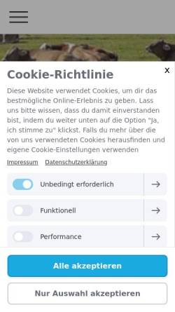 Vorschau der mobilen Webseite www.original-braunvieh.org, Schlichting - Ritter GbR