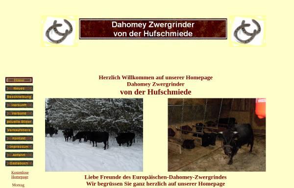 Vorschau von www.dahomey-zwergrinder.com, Dahomey Zwergrinder von der Hufschmiede