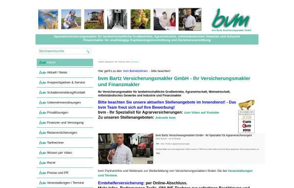 Vorschau von www.bvm-versicherungsmakler.de, Bvm Bartz Versicherungsmakler GmbH